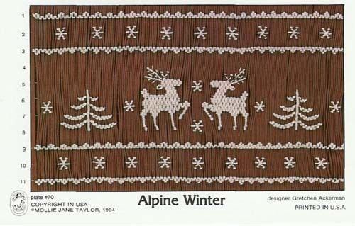 This is a yearly most popular design plate for smocking Christmas outfits.