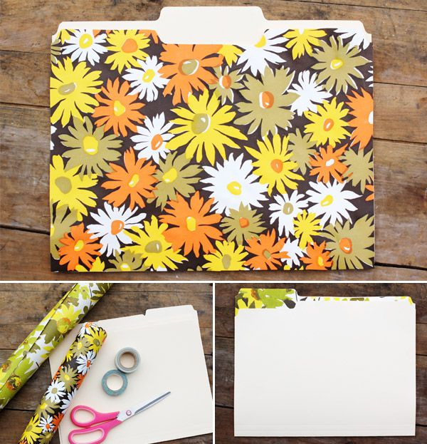 Single File: A Retro-Inspired File Folder DIY from A Beautiful Mess ...