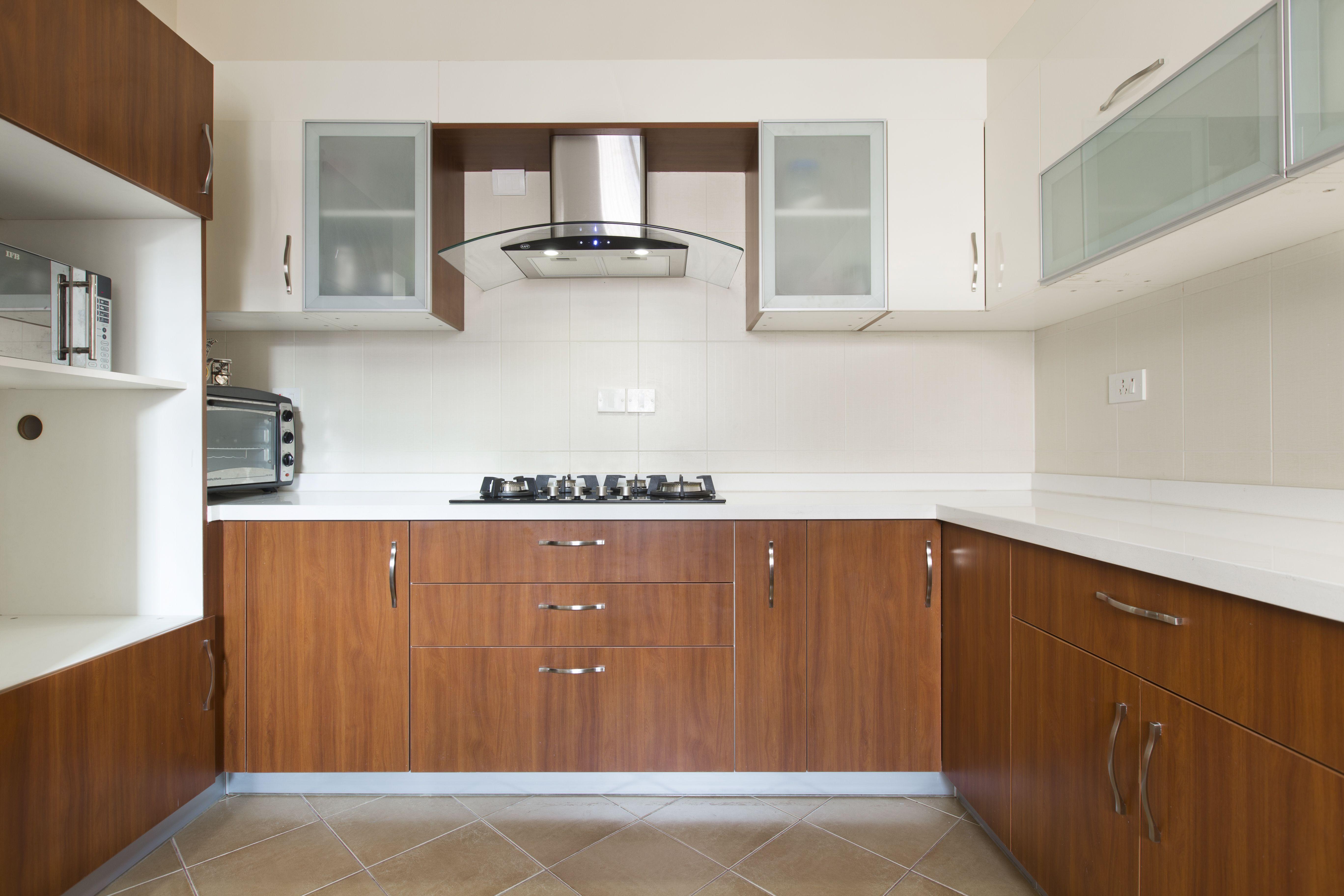 U Shaped Modular Kitchens From Homelane Com Glass Kitchen Cabinet Doors Kitchen Cabinets Glass Kitchen Cabinets