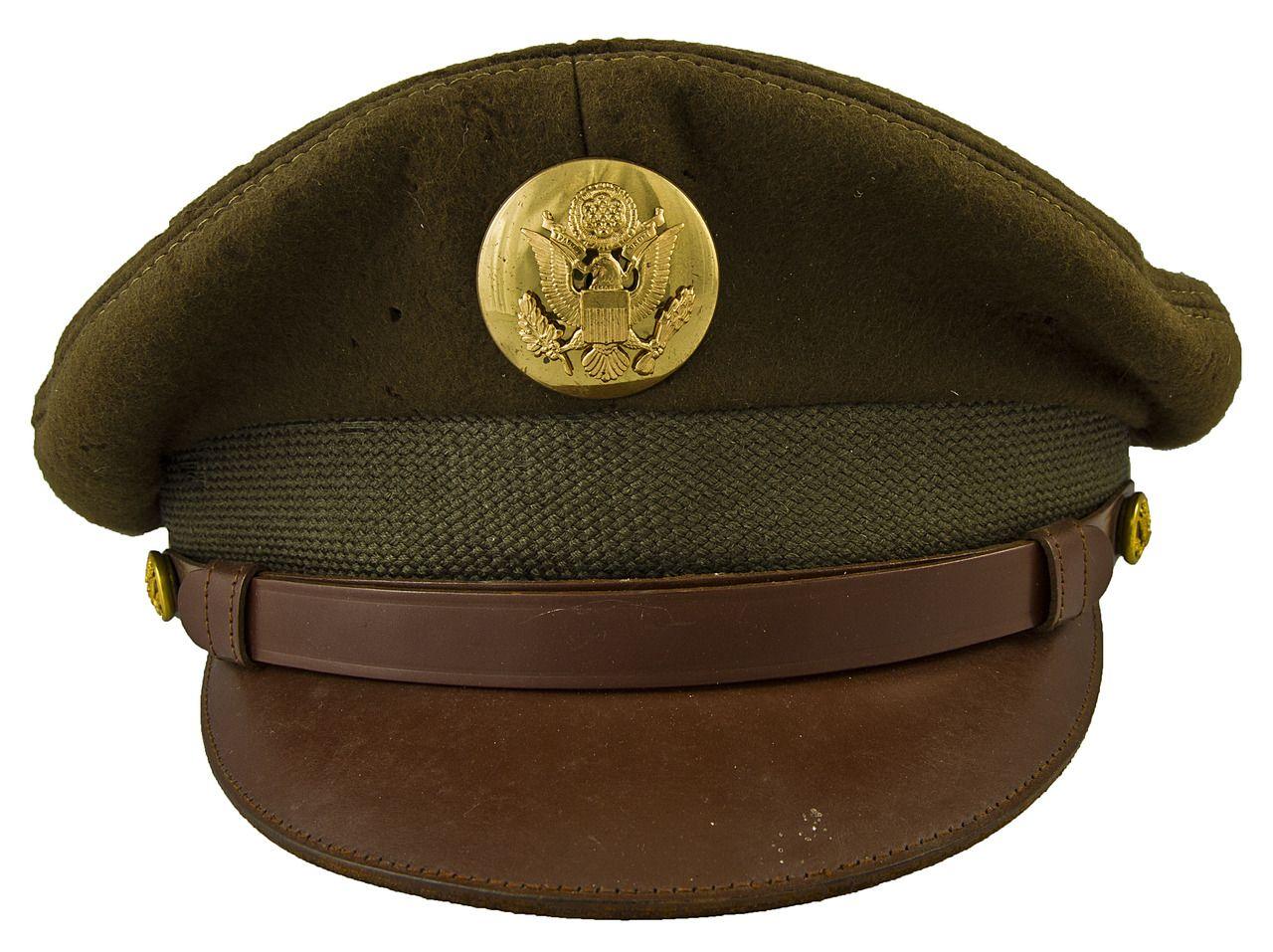 U S Army Enlisted Man S Visor Hat Wwii Military Cap Military Fashion Army Uniform