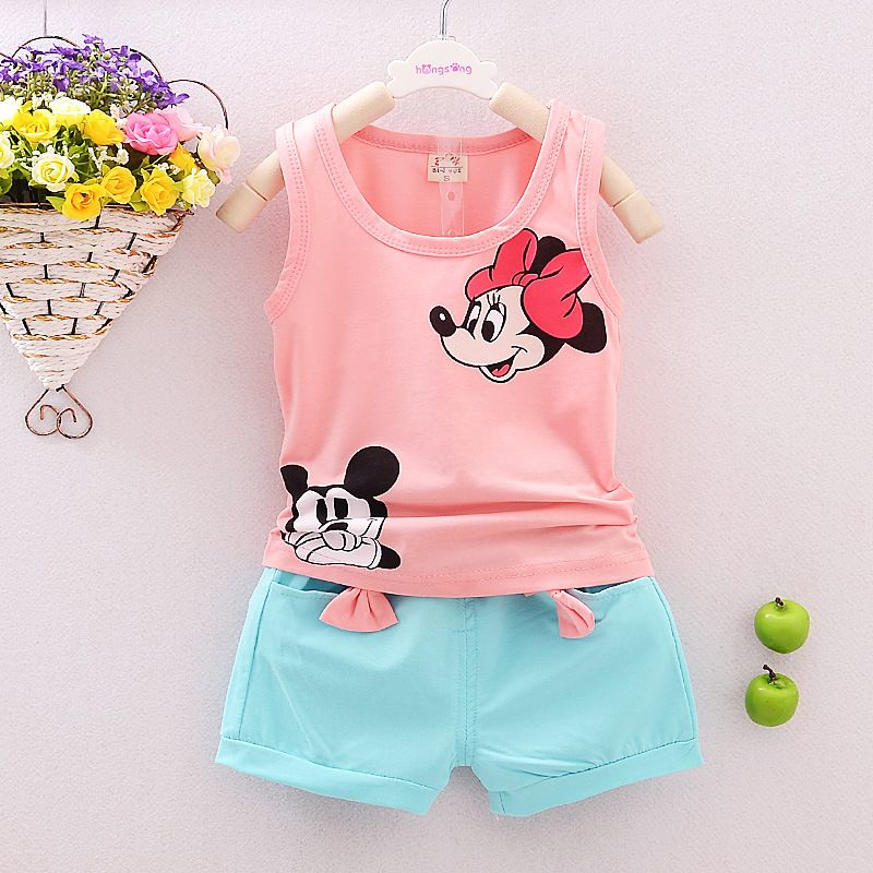 ddea723adc017 Awesome Summer Cute Cartoon 2PCS Kids Baby Girls Floral Vest Top Shorts Pants  Set Clothes Girls Clothing Sets - $12.33 - Buy it Now!