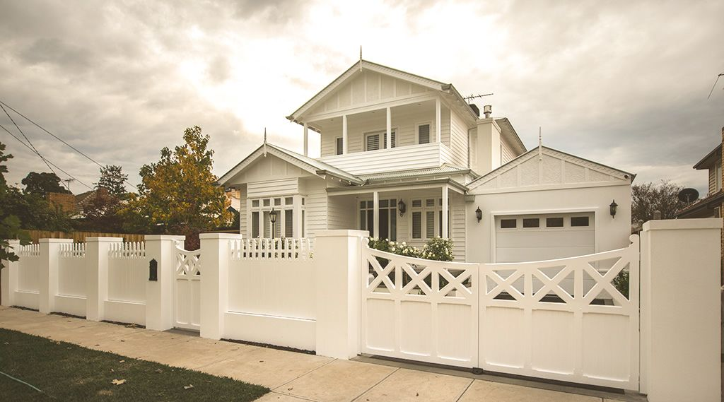 Picket Fence With Wooden Gates In 2019 Timber Gates