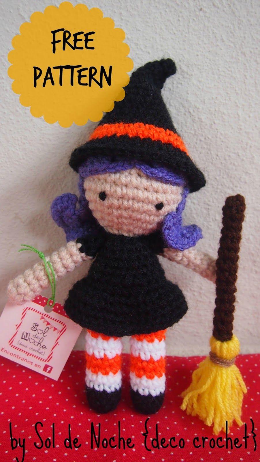 Make It: Witch - Free Crochet Pattern #crochet #amigurumi #free ...