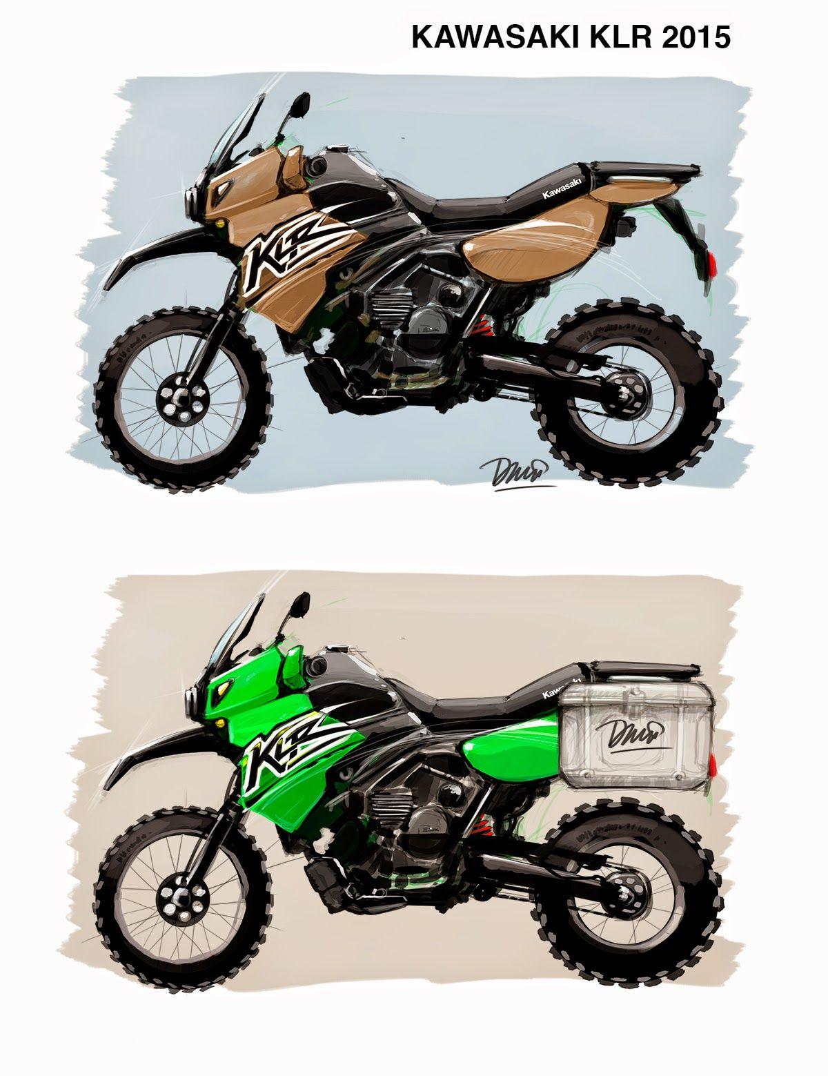 Kawasaki Klr 650 Sketch Klr 650 Bike Sketch Trail Motorcycle