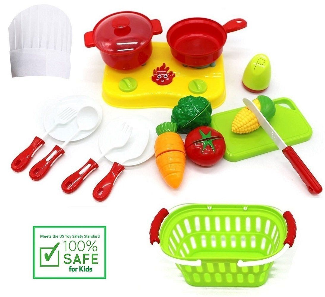 Play Kitchen Dishes amazon: funerica cutting play fruit toys set - includes toy