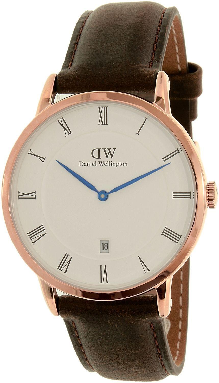 89cafb5133e7d Daniel Wellington Men S Dapper Bristol 1103Dw Rose Gold Leather Quartz Watch