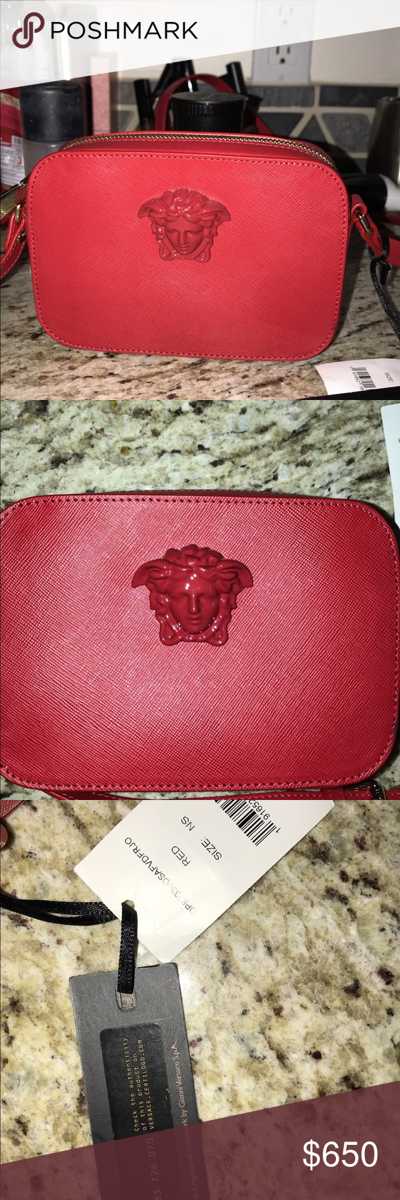 1aa72edac944 Versace Palazzo mini Crossbody bag Red Brand new Red Versace Palazzo mini Crossbody  bag. Never worn out
