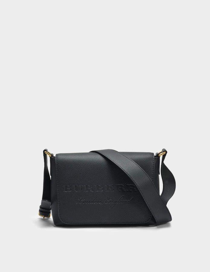 365e29cc712 Burberry Small Burleigh Crossbody Bag in Black Grained Calfskin ...