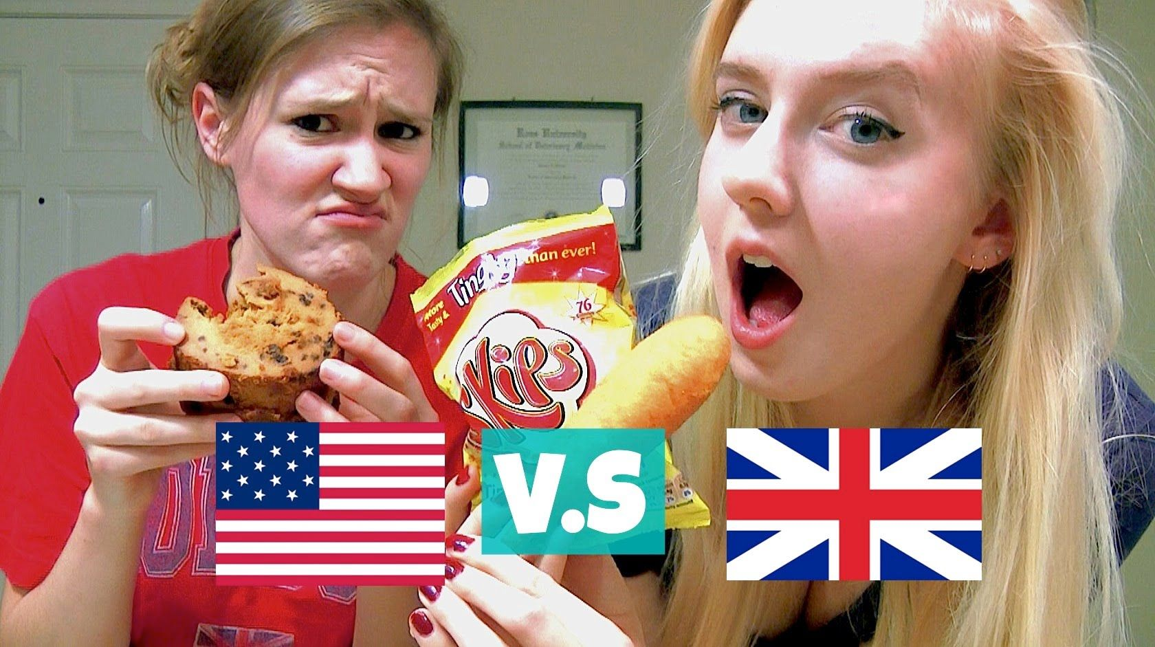 British Vs American Food