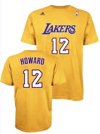 Dwight Howard Los Angeles Lakers Gold Jersey Name and Number T-shirt Large d49d23576