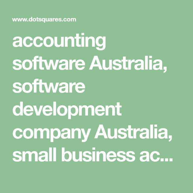 Accounting Software Australia Software Development Company