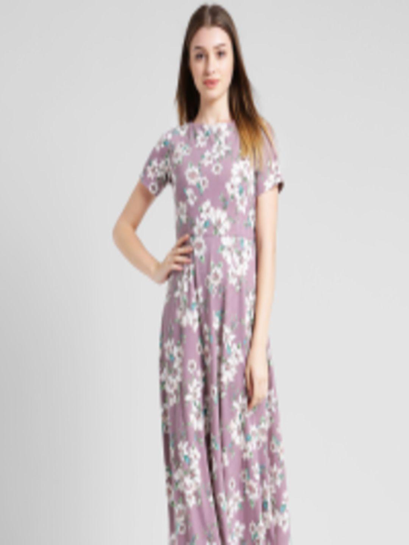 Buy Zink London Women Lavender Printed Maxi Dress - Dresses for Women  6011780  efd8cc7a3
