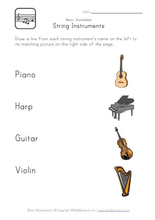 string instruments worksheet asta pinterest worksheets instruments and music worksheets. Black Bedroom Furniture Sets. Home Design Ideas