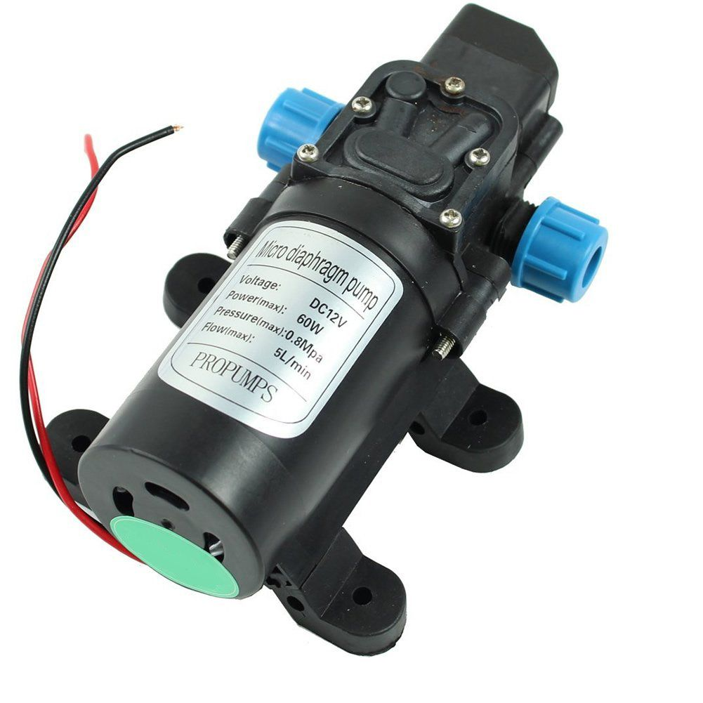 12v Dc 5l Min 60w Micro Car Diaphragm High Pressure Water Pump Electric Water Pump Water Pumps High Pressure