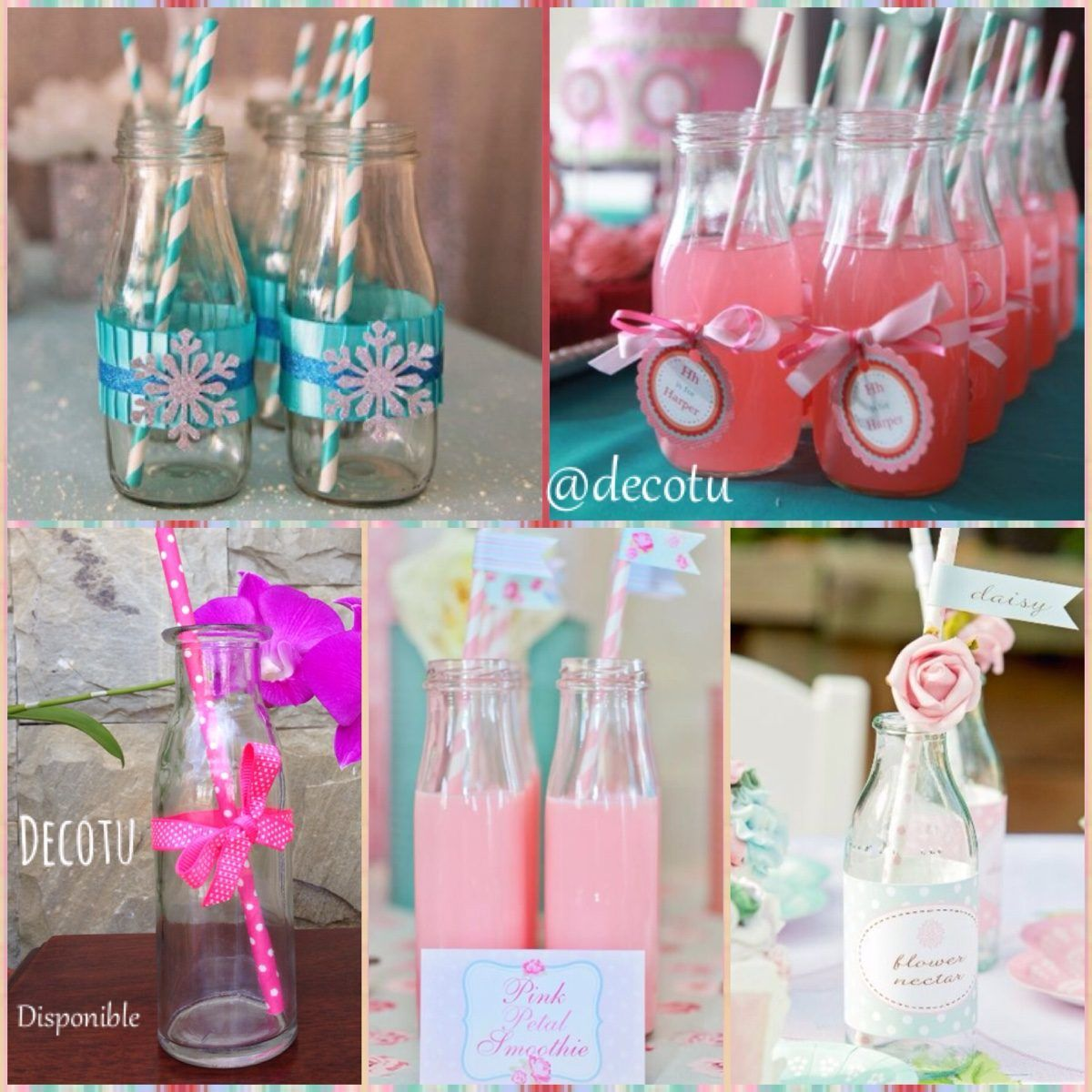 Botellas Decoradas Para 15 Botellas De Vidrio Para Candy Bar Buscar Con Google