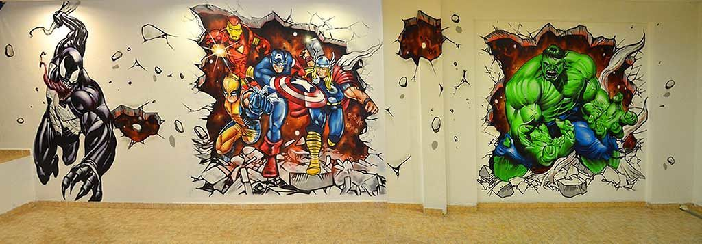 Bon Awesome DC And Marvel Themed Street Art
