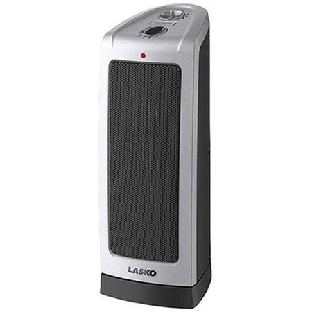 Lasko Tower 23 In 1500 Watt Electric Ceramic Oscillating Space Heater With Digital Display And Remote Control 755320 The Home Depot
