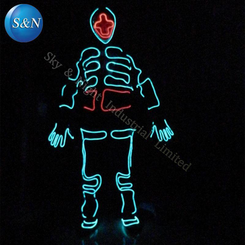 EL Tron Dance Tron light suit / LED robot suit / LED Clothing ...