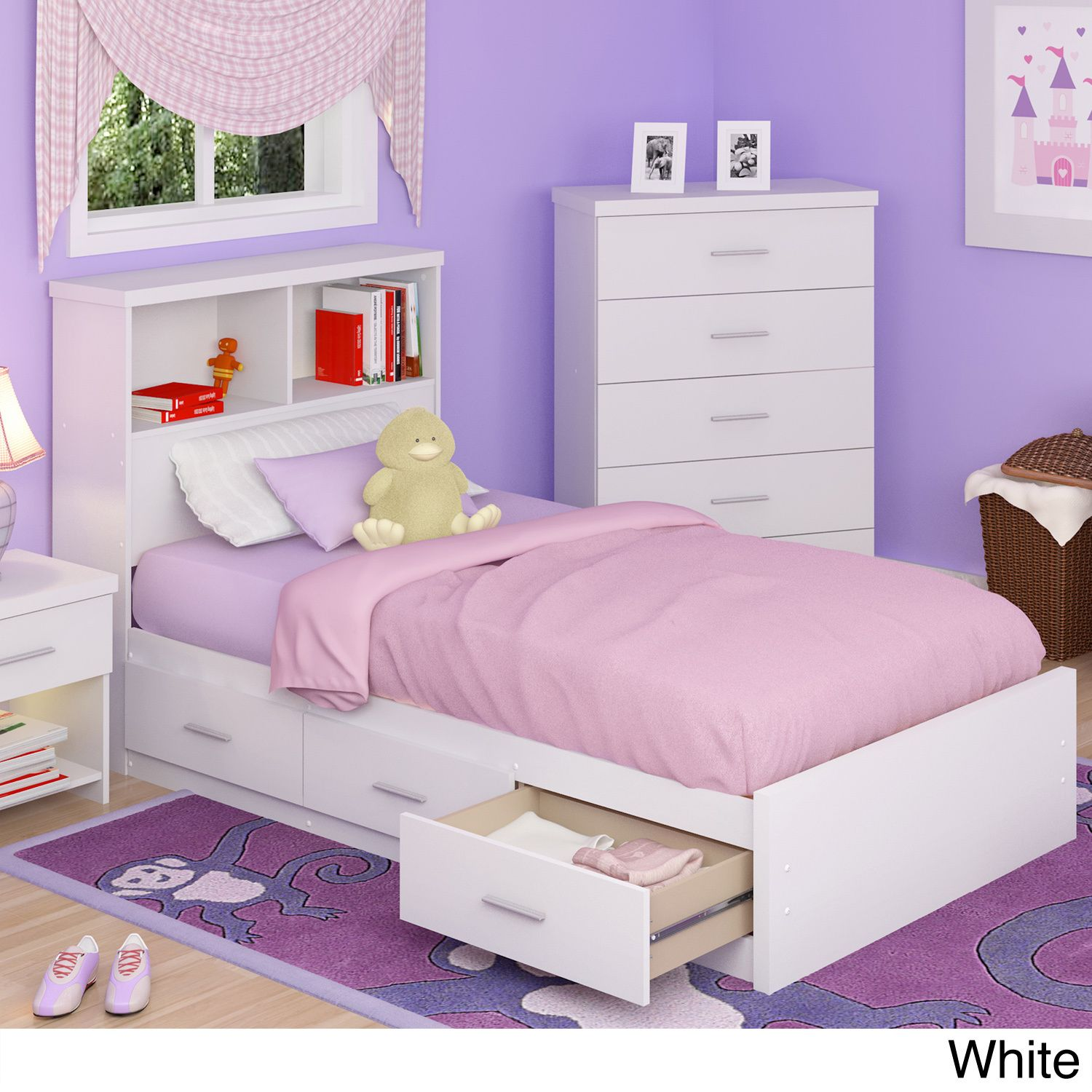 A Simple Contemporary Designed Platform Bed Set Ideal For Any Kid S Bedroom This Includes