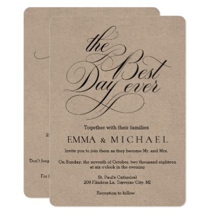 Kraft Best Day Ever Wedding Invitations Weddingideas, Weddings - invitation card event