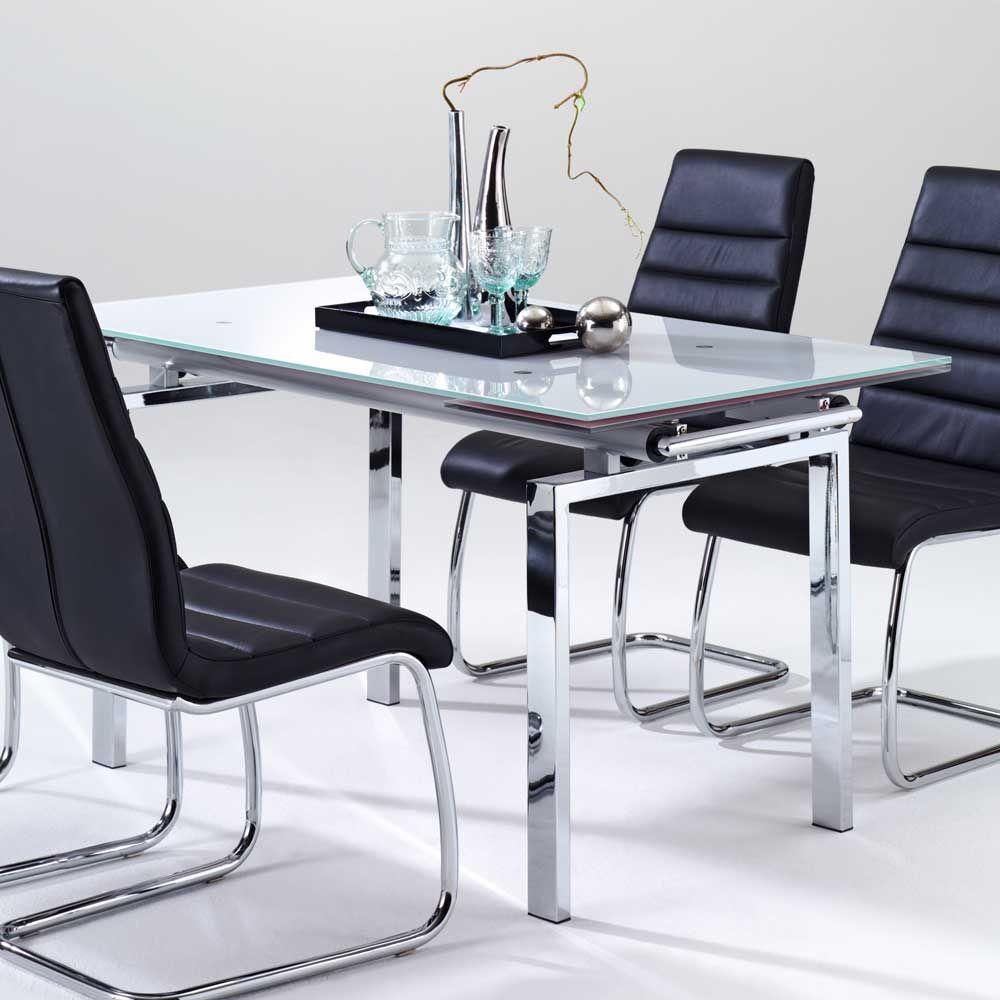 esszimmertisch mit glasplatte ausziehbar jetzt bestellen unter. Black Bedroom Furniture Sets. Home Design Ideas
