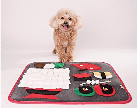 Interactive Dog Toys Dog Play Mat, Snuffle Mat For Dogs, Sushi Mat, Puppy Play Toys, Dog Nose Work Mat, Nose Work Dog, Interactive Dog Toy, Unique Dog Gift