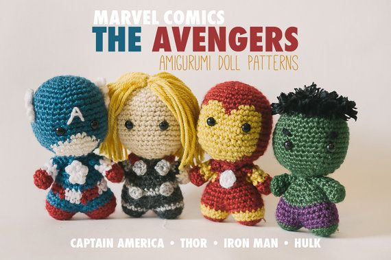 The Avengers Amigurumi Dolls inspired by Marvel Comics ...