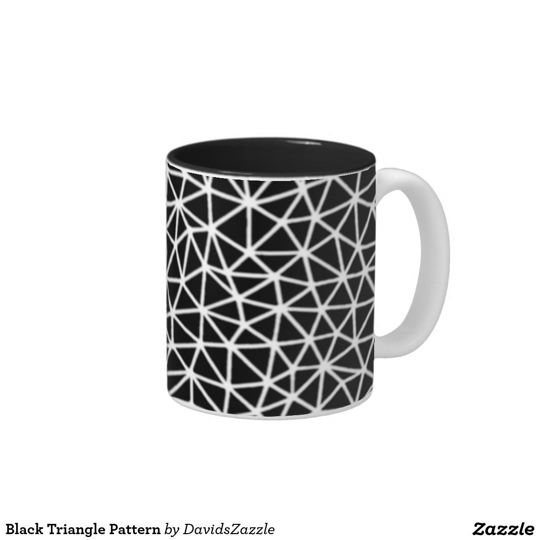 Black Triangle Pattern Coffee Mug Check Out The Site For For Options Triangle Geometric Home Decor Black White Mugs Geometric Wedding Triangle Pattern