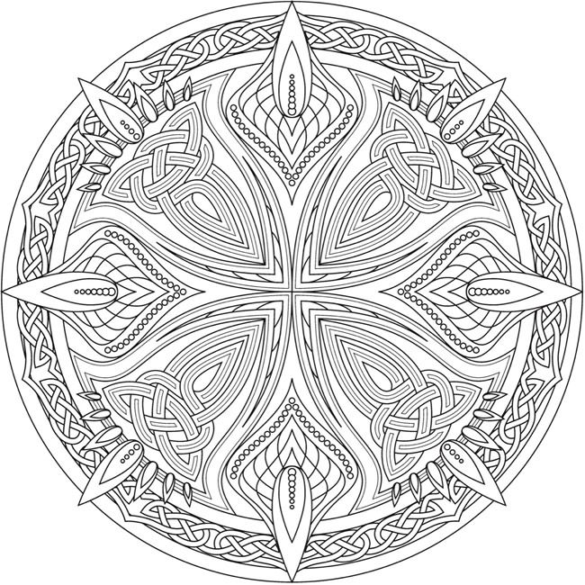 Welcome To Dover Publications Celtic Coloring Celtic Mandala Mandala Coloring Pages