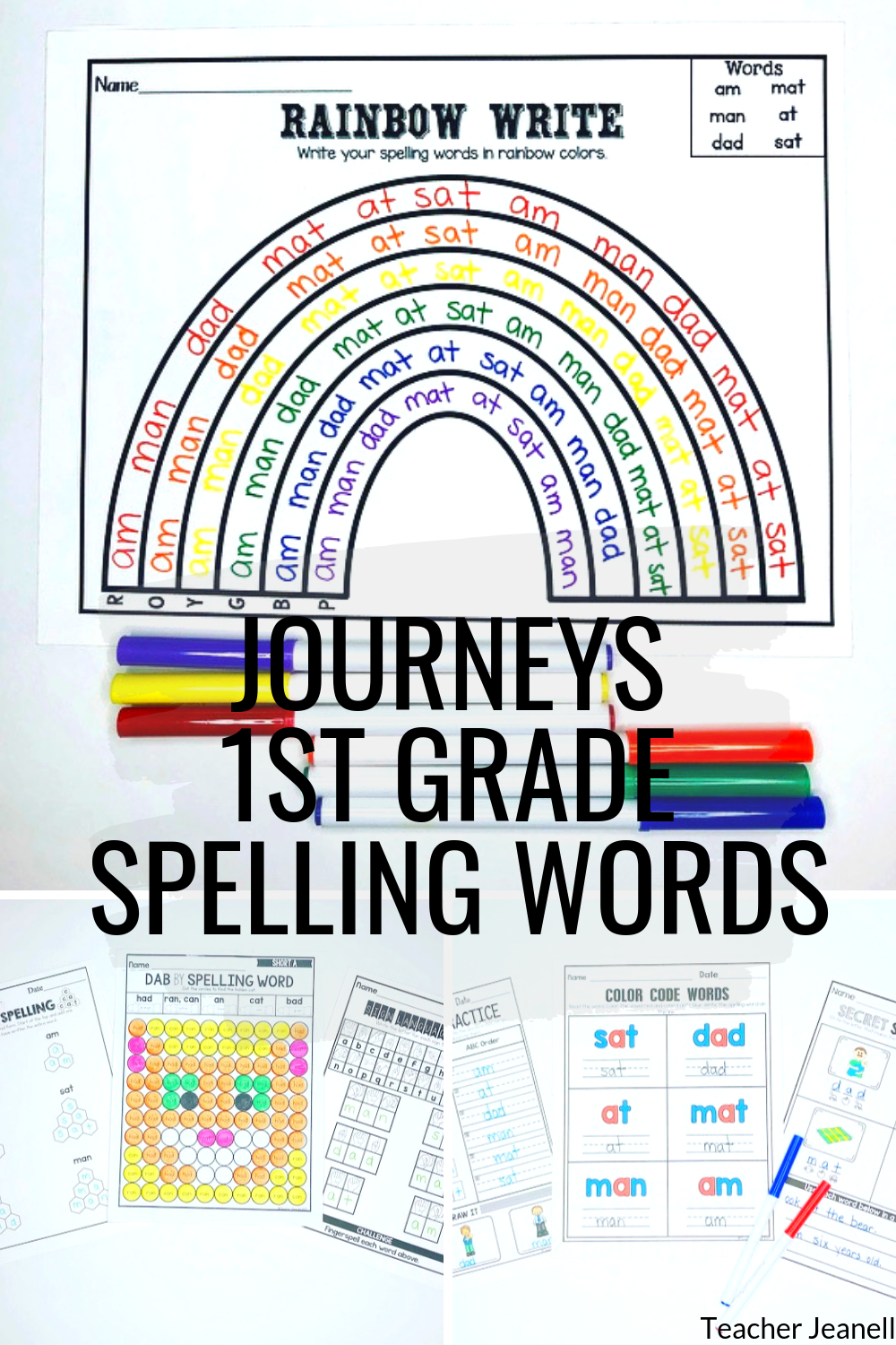 small resolution of Journeys First Grade Spelling Words Units 1-6 Supplemental Resource    Journeys first grade