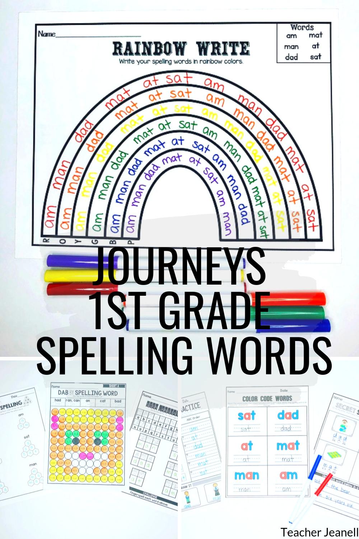 Journeys First Grade Spelling Words Units 1-6 Supplemental Resource    Journeys first grade [ 1500 x 1000 Pixel ]