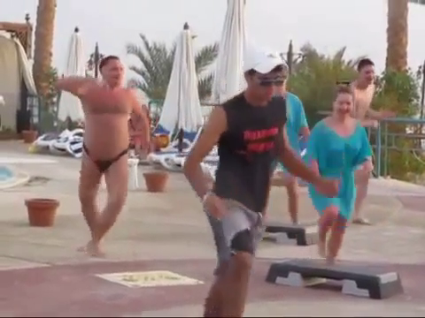 Pot-Bellied Russian Guy in Speedo Joins Aerobics Class and Absolutely Kills It | VidAddict.com