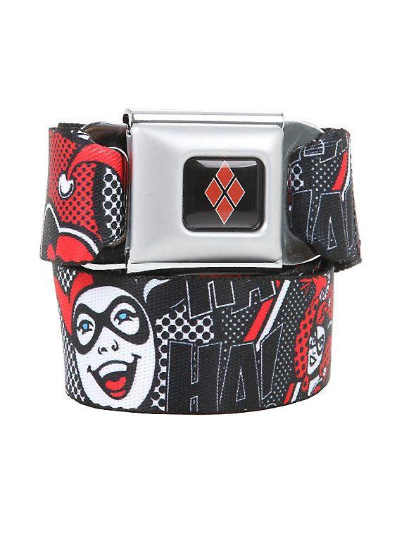 Buckle Down boys Buckle-down Seatbelt Belt Harley Quinn Regular