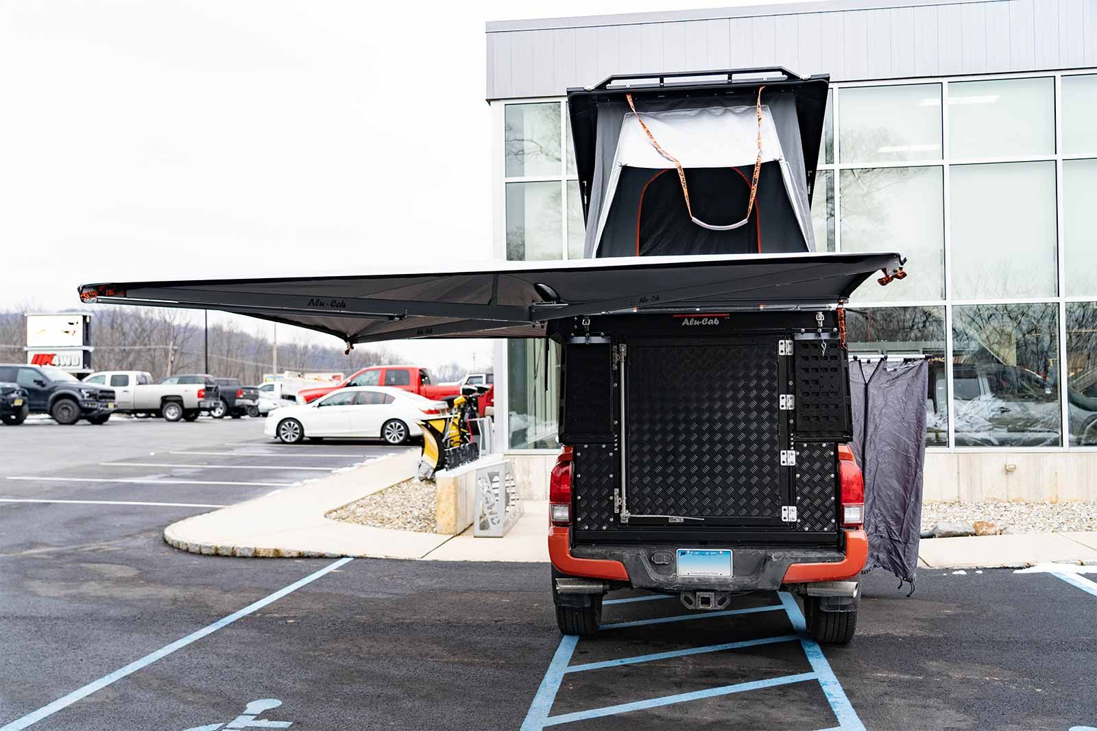 Online Garage 2016 Toyota Tacoma Outfitted With An Alu Cab Canopy