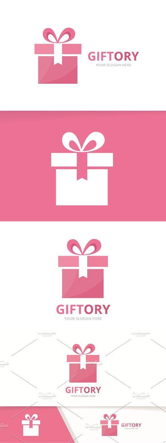 Vector Gift And Giftbox Logo Gift Vector Logo Design Branding Design Logo