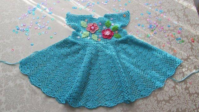 Patron para hacer un vestido y bolero a crochet para niña | vestidos ...