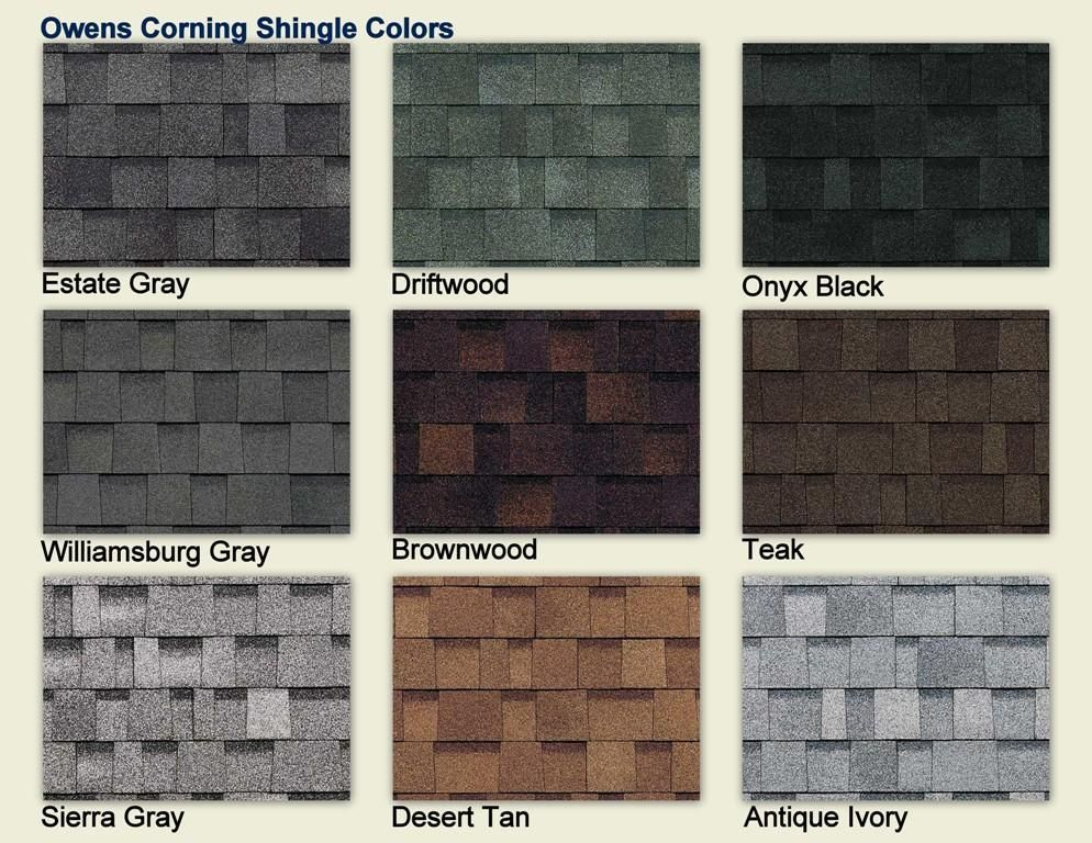Owens Corning Shingle Colors COLOR CHART - Owens Corning Shingles