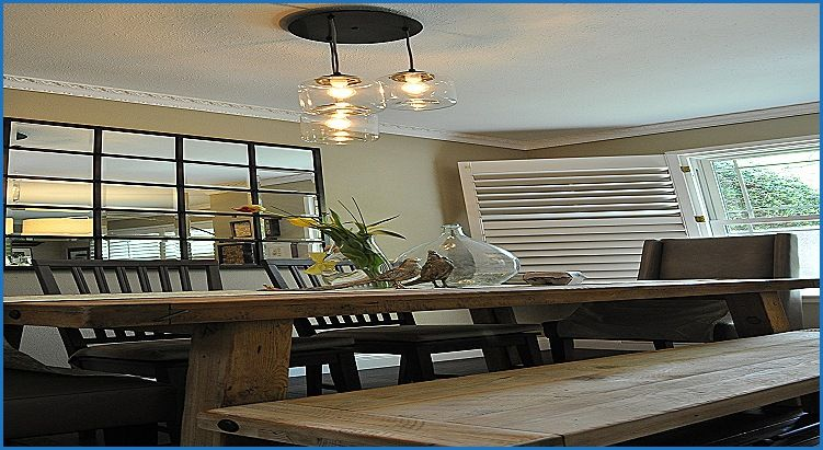Luxury Ceiling Fans Over Dining Room Table Dining Table Decor