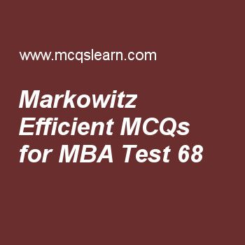 MBA quiz 68 to learn investment analysis and portfolio management - investment analysis
