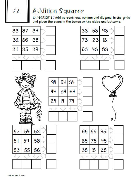 February NO PREP Math Packet - 3rd Grade   Elementary Math ...