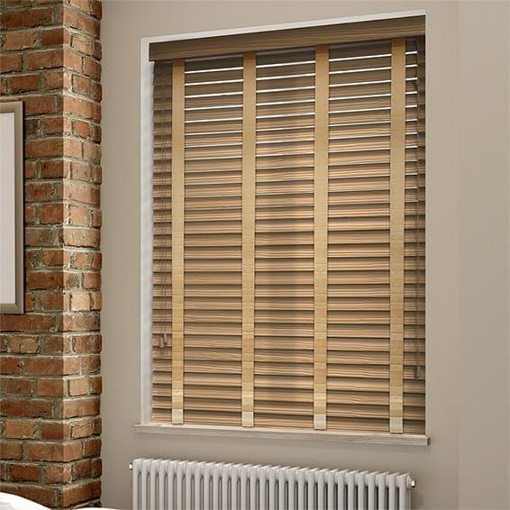 majestic wooden blinds for bathrooms. Majestic Oak  Sand Faux Wood Blind 50mm Slat 20from 20Blinds 202go wood blinds
