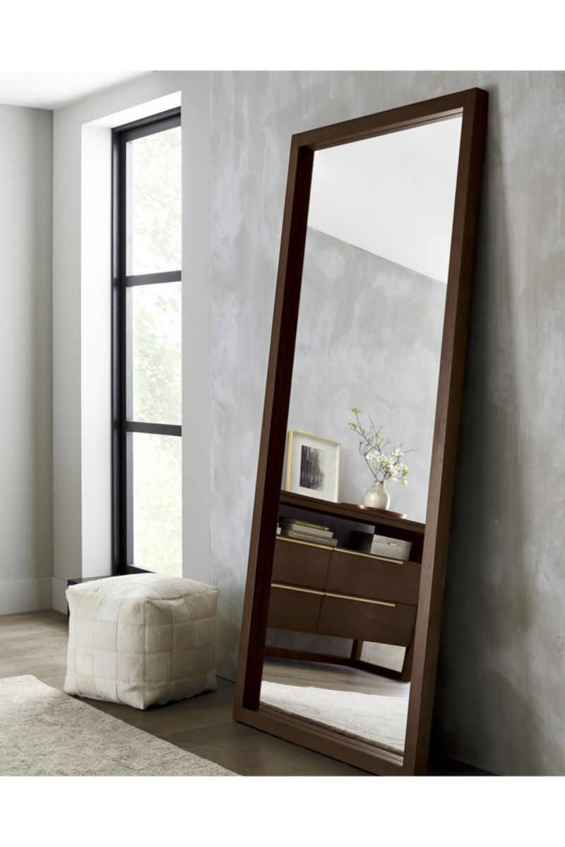 Linea Mocha Floor Mirror Reviews Crate And Barrel Floor Mirror Modern Floor Mirrors Living Room Mirrors