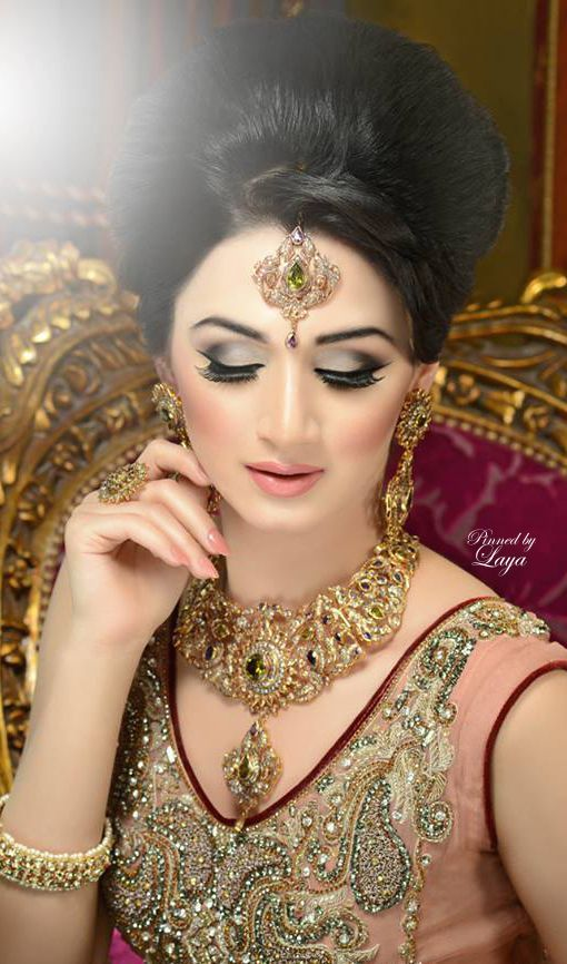 Gold Details X Wedding Hair Style X Dark Red Lehenga Brought You