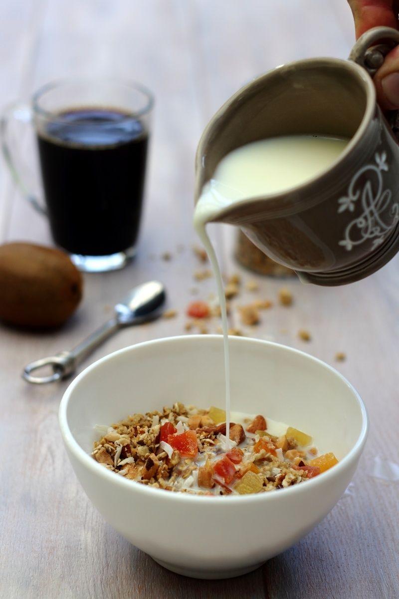 Granola (ou muesli) maison aux fruits exotiques | Muesli, Petit déjeuner facile, Fruits exotiques