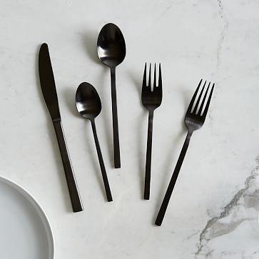 Matte Black Flatware Set With Images Black Flatware Kitchen