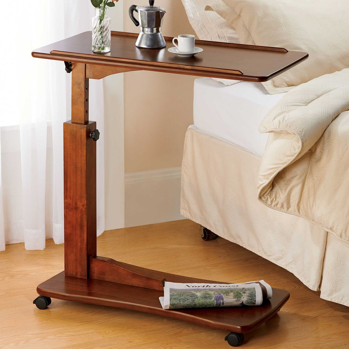 Adjustable Bedside Table Bed Tray Diy Bedside Table Diy Bed Table