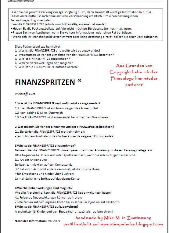 Finanzspritzenbeipackzettel Jpg Finanzspritze Freundin