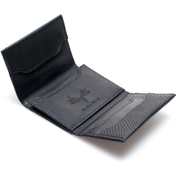 Zara Snakeskin Business Card Holder 12 Liked On Polyvore Featuring Men S Fashion Men S Bags Men S Wallets Men Wallet Men Business Card Holders Man Bag