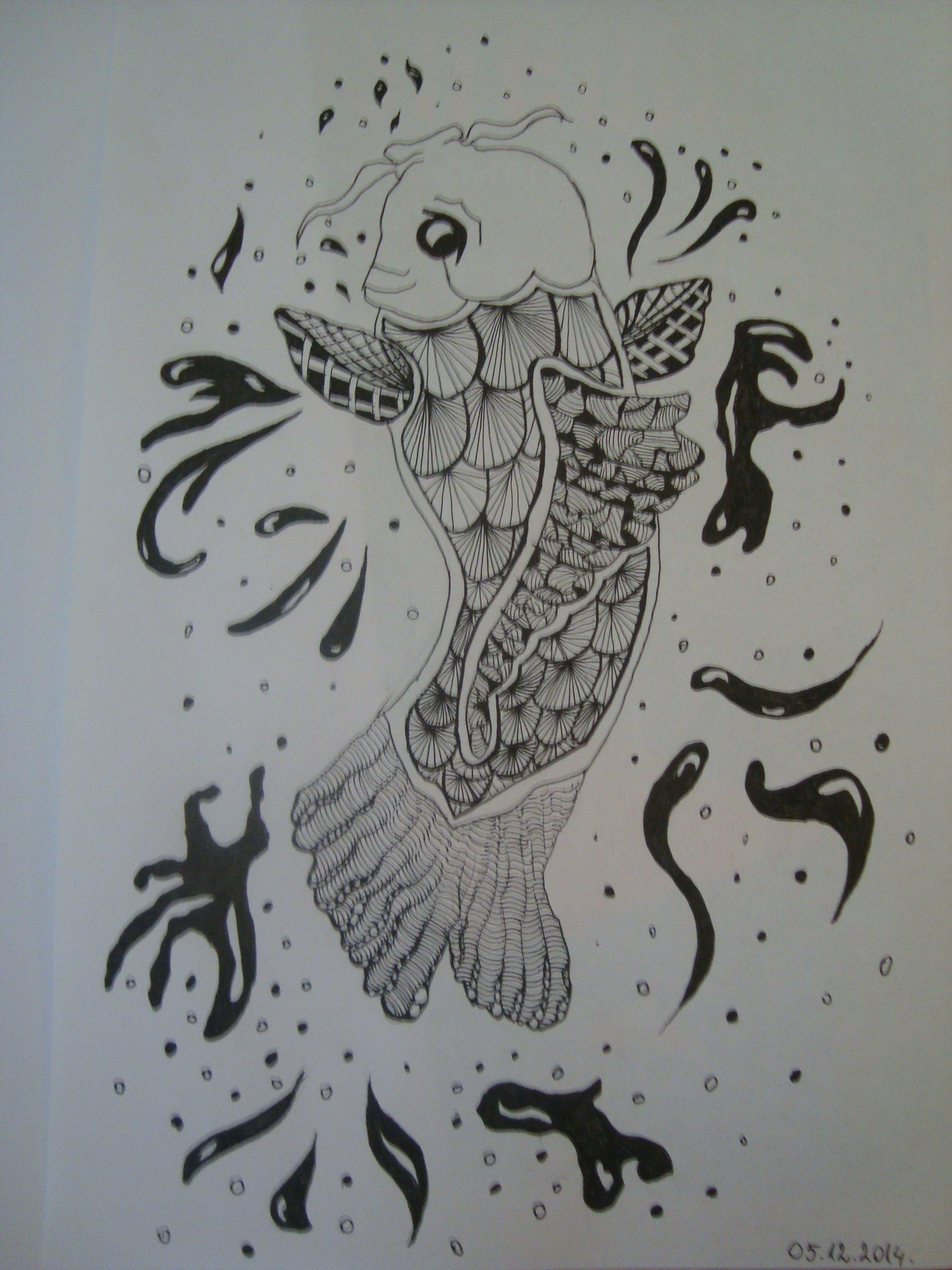 #Zentangle #Doodles #Fish #InWork