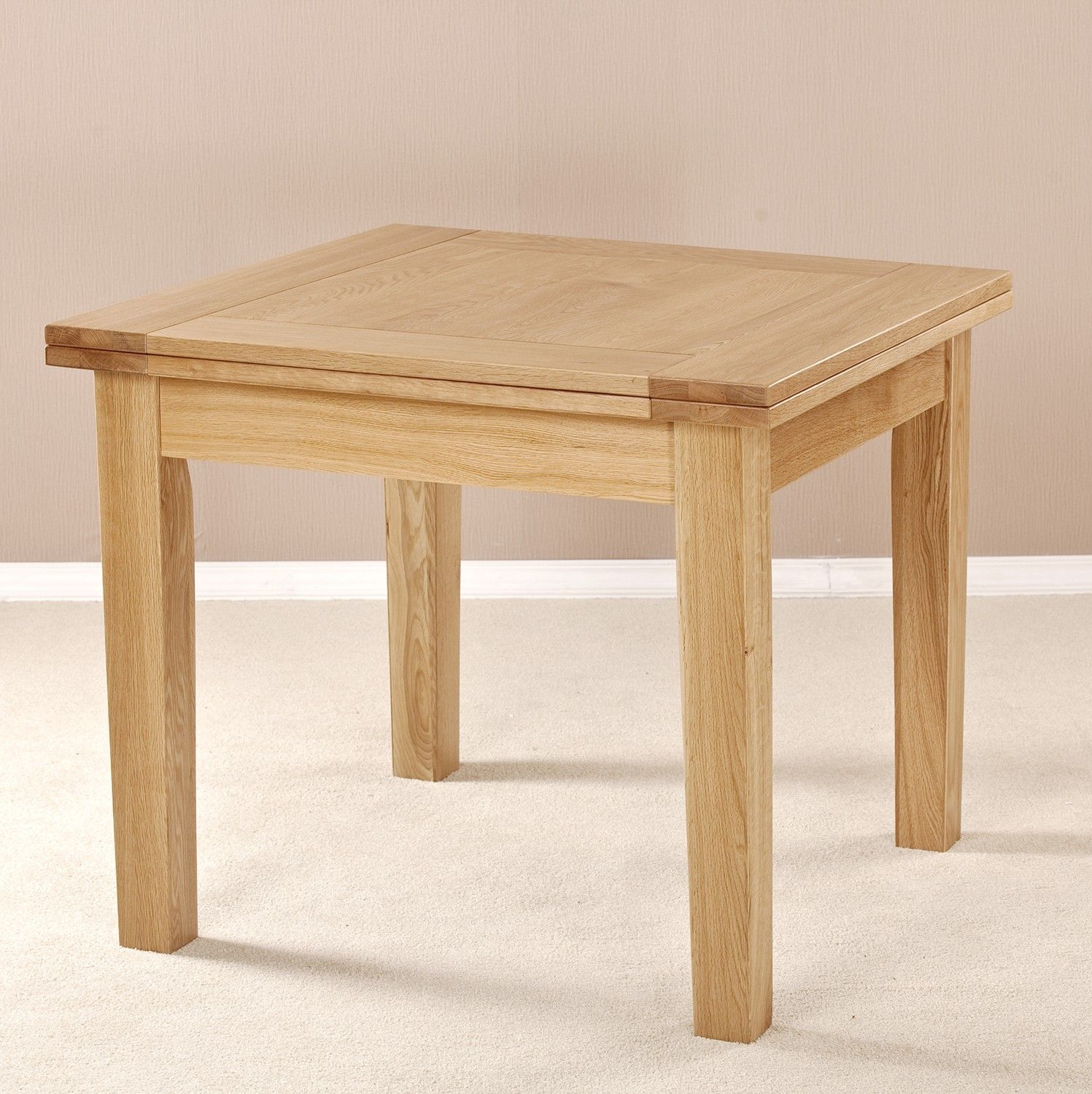 Solid American White Oak Easy Flip Top Extension Perfect For The Smaller Room Smooth Satin Lacquer